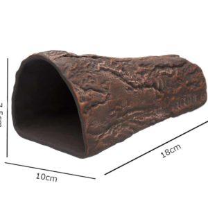 Gliniana grota wkształcie stożka brązowa wymiary