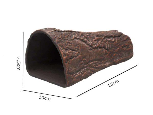 Gliniana grota w kształcie stożka brązowa wymiary