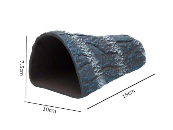Gliniana grota w kształcie stożka niebieska wymiary