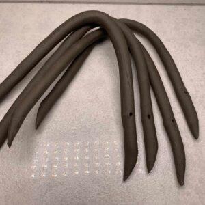 Gliniany nabijak do warzyw łuk 3